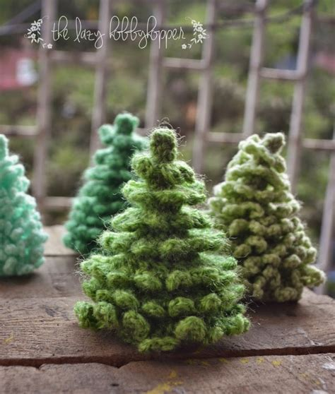 crocheted trees the lazy hobbyhopper crochet tree free pattern