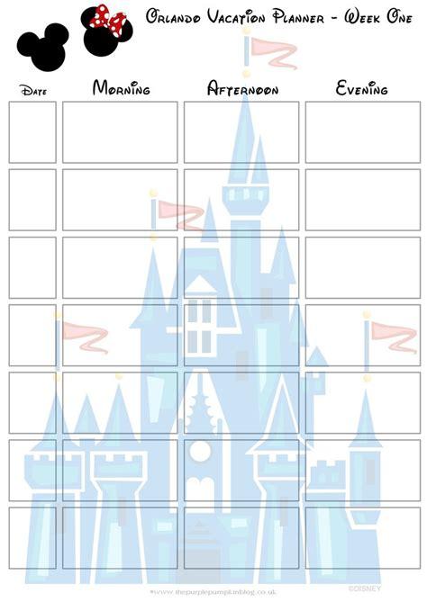 printable disneyland vacation planner orlando walt disney world vacation planner disney walt