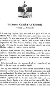 Essay On Mahatma Gandhi by Mahatma Gandhi Essays And Reflections