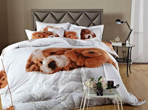 dog bedding set little puppy kids dog themed bedding for girls boys twin or queen duvet cover set