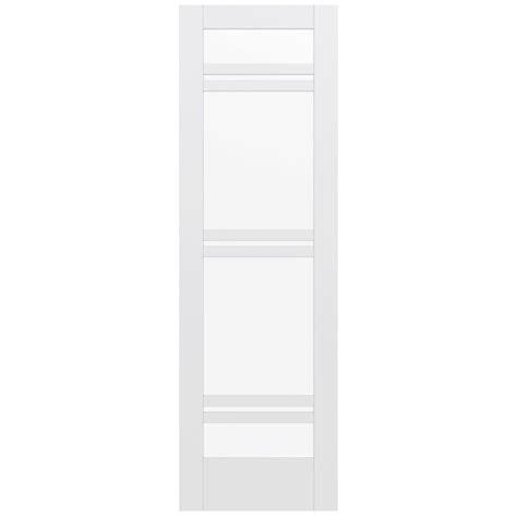 Glass Panel Door Home Depot Jeld Wen 36 In X 96 In Moda Primed White 4 Lite Solid Wood Interior Door Slab With