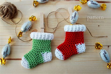 free pattern for crochet christmas stocking ornament free mini crochet christmas patterns new pattern