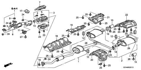 2003 honda crv exhaust system diagram 18160 rca s00 genuine honda converter