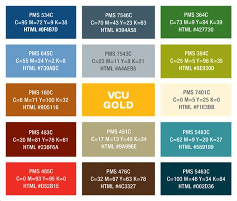 color suggestions brand standards guide vcu brand standards