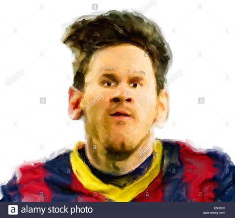 wallpaper barcelona portrait caricature portrait painting of the footballer lionel