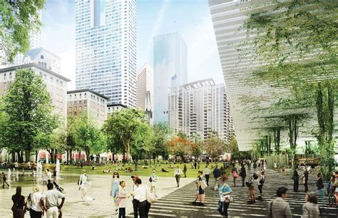 design competition los angeles four finalists for pershing square design in los angeles