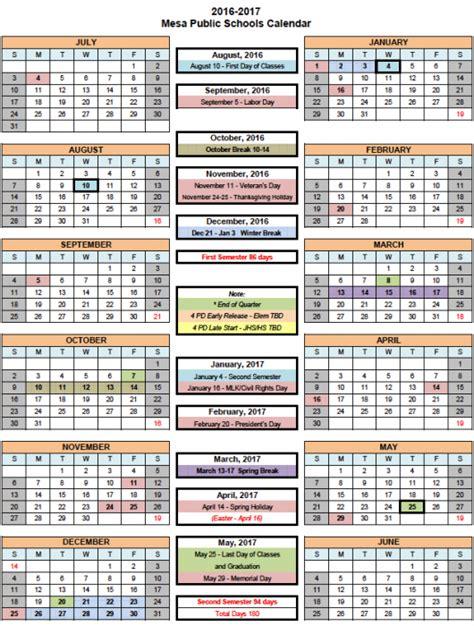 What Does Calendario Mesa Schools 187 Calendars