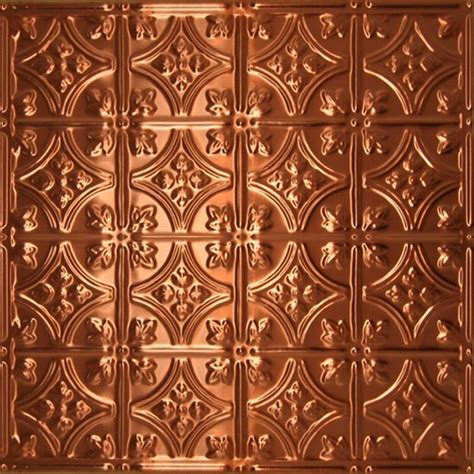 0604 solid copper ceiling tile 2ft x 2ft ceiling tile by decorative ceiling tiles inc