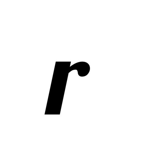 small r r small letter r lobster1 1 regular graphemica
