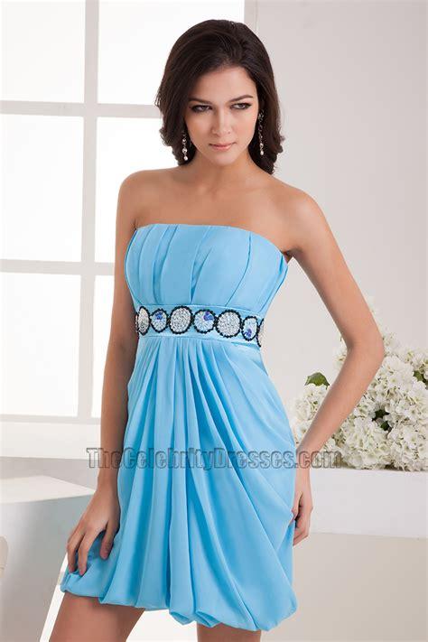 best cocktail x mas dress sheath column blue chiffon cocktail dresses thecelebritydresses