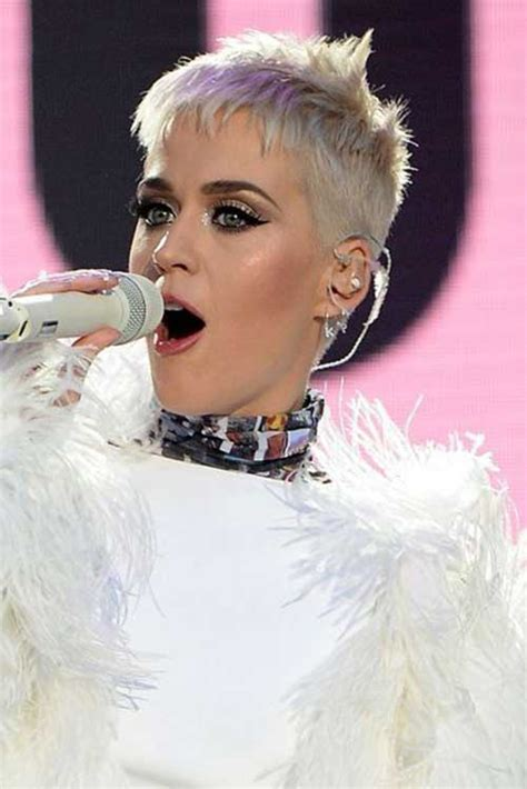 katy perry s new choppy bob hairstyle super short haircuts for modern and unique look short