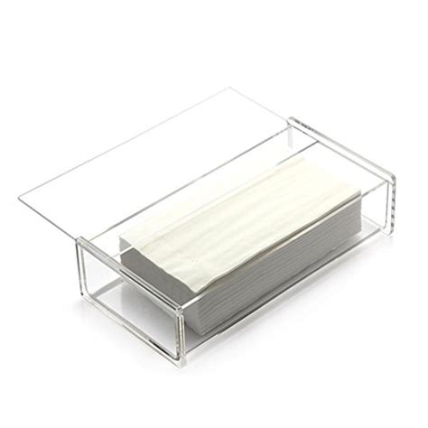 bathroom napkin holder aoert acrylic tissue dispenser box rectangle clear tissue