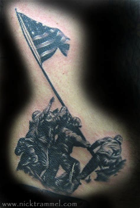 iwo jima tattoo nick trammel iwo jima