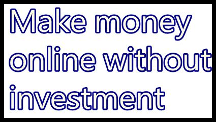 online work from home without investment blogeomics - Online Work From Home Without Investment