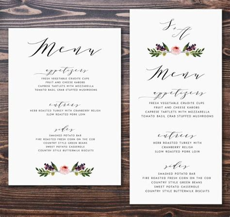 Wedding Menu Card Template by As You Prepare To Invite Guests To Your Wedding Consider