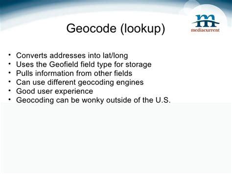 Geocode Lookup Geolocation In Drupal