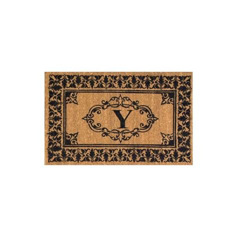 Monogrammed Rugs Outdoor Nuloom Welcome 30 In X 48 In Indoor Outdoor Monogrammed