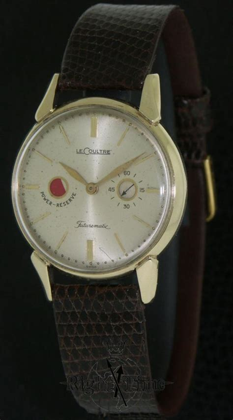 lecoultre 14kt gold futurematic power e502 pre owned