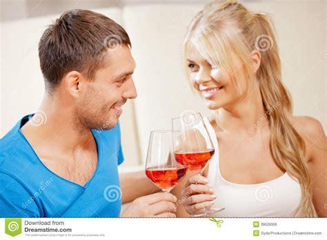 romantic couple drinking wine romantic couple drinking wine stock photo image 39529306