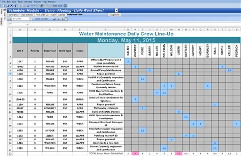 Scheduler Template Excel by Excel Spreadsheet Template For Scheduling Spreadsheet