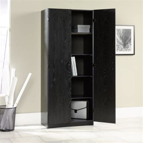 freestanding storage cabinet pantry ash finish