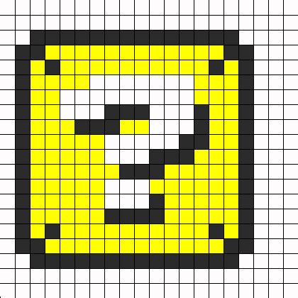 pattern questions for c mario question box perler perler bead pattern bead