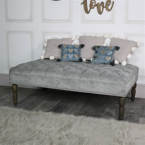 grey upholstered bench silver grey upholstered linen bench melody maison 174