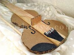 How To Make A Violin Out Of Paper - my violin make a cardboard violin free template at