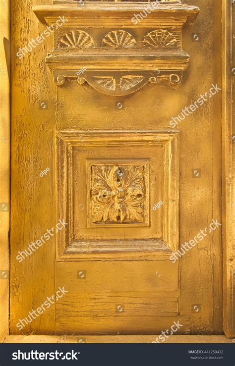 element of painted wood doors texture grunge background cracked paint gold paint on wood