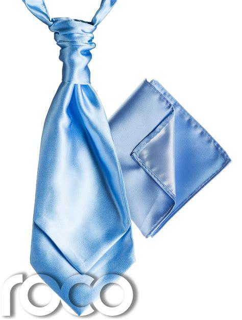 mens satin wedding ruche cravat tie with hankys cravat