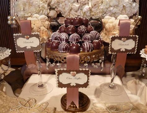 pink and gold shabby chic wedding quot shabby chic dessert table by a charming f 234 te quot catch my