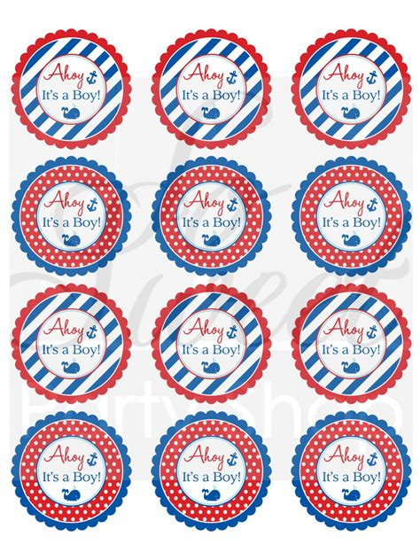 nautical baby shower stickers boys baby shower favor