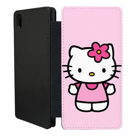 Xperia T Flip Cover hello flip printed phone flip cover for sony
