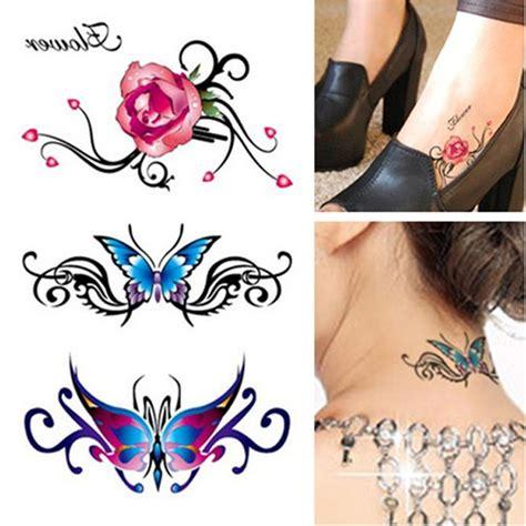 tatuaggio fiore della vita acquista all ingrosso rosa collo tatuaggio da