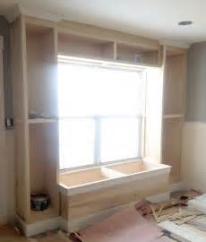 how to build a window seat with bookshelves built in bookcase and window seat for the office