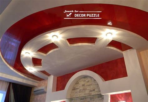Red Livingroom by 30 Gorgeous Gypsum False Ceiling Designs To Consider For