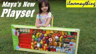kitchen toy set for little girls maya s new grocery