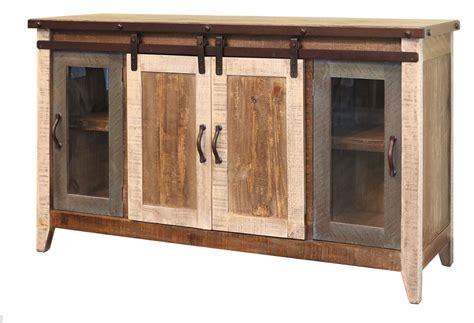 barn door tv cabinet burleson home furnishings madeline antique multi color