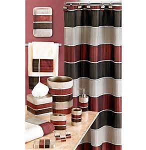 Maroon Bathroom Accessories Pb Home Modern Line Burgundy Bath Collection Younkers
