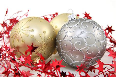 ornaments free stock photo gold and silver christmas
