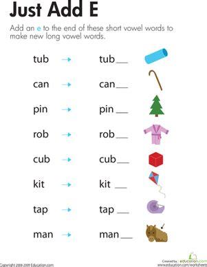 Magic E Worksheets by Silent Quot E Quot Worksheet Education