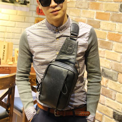 Sling Bag Fashion Murah 2in1 quality pu leather chest bag sling bag fashion crossbody chest bags chest pack sling