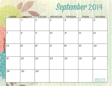 september 2014 calendar template 8 best images of printable monthly calendars september