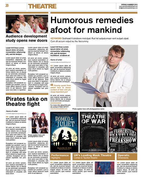 entertainment section in newspaper theatre section of arts culture newspaper arts