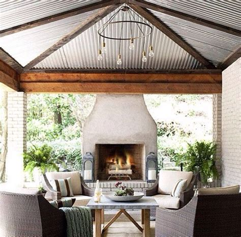 diy outdoor room tin ceiling outdoor room diy home