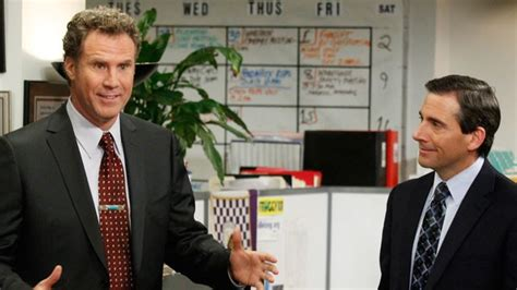 the office steve carell and will ferrell vs real