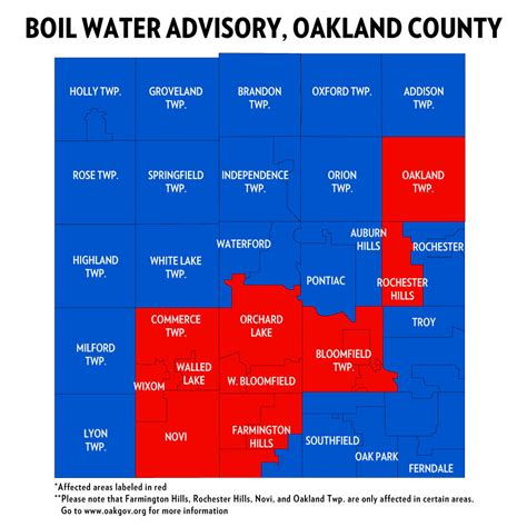 Search Oakland County The Boil Water Advisory Affecting Parts Of Oakland County Has Been Lifted Michigan Radio