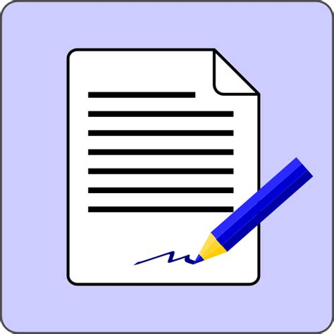 Document Clipart sign document contract icon clip at clker vector