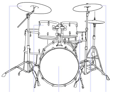drum template file drum kit illustration template png
