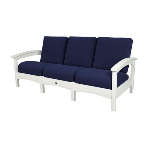 white couch cushions trex outdoor furniture rockport club classic white patio